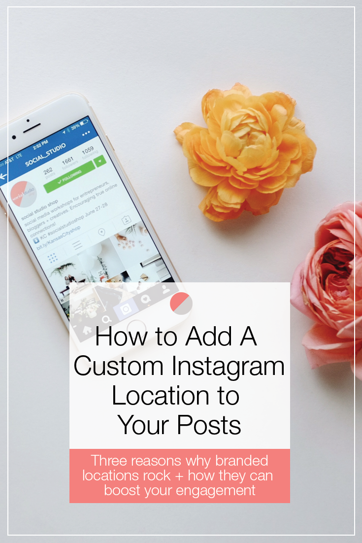 The step-by-step process for adding a custom location to your Instagram posts. Three reasons why custom Instagram locations rock and how they can boost your engagement on social media! Pin now and click through to learn more!