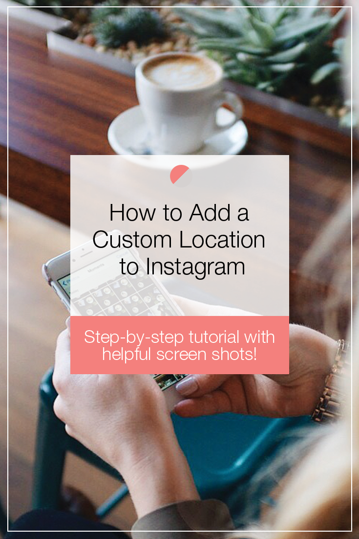 Ever wonder how you can add a custom location to your Instagram posts? Well now you can with this helpful step-by-step Instagram tutorial! Add your branded location to your Instagram posts to attract new clients. Worried because you work from home? We have the solution! Pin now and click through to learn more awesome Instagram tips!