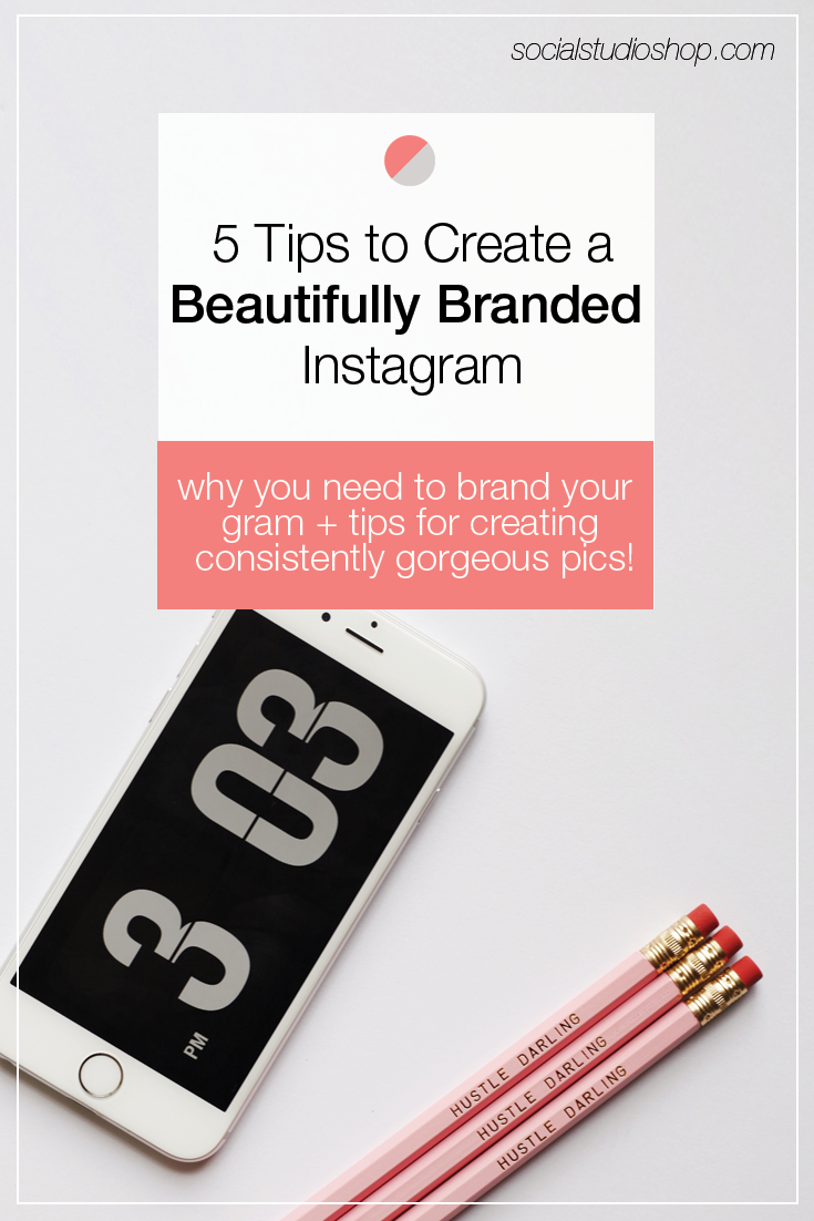 Create a beautifully branded Instagram and establish loyalty and trust with your audience. Click through to see 5 tips for how to apply your brand cohesively to your Instagram account.