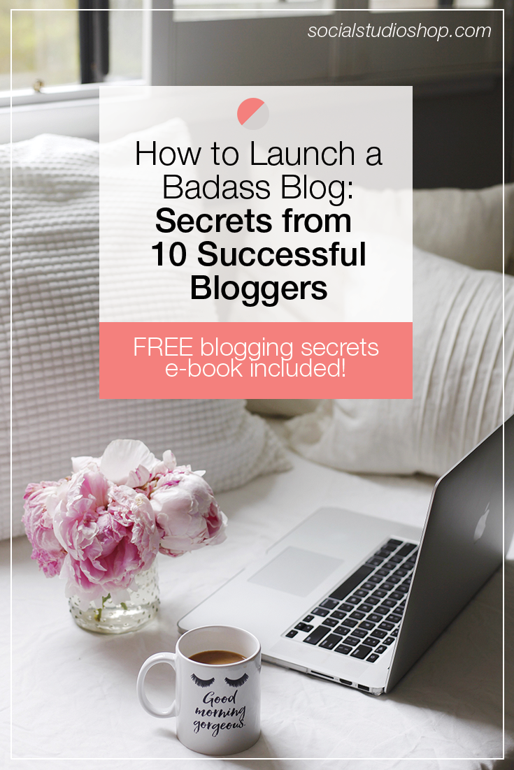 If you're considering launching a blog or maybe looking to change around your blog strategy, click through to read this post where we interview 10 successful + seasoned bloggers who are sharing their best pieces of advice for starting a blog.