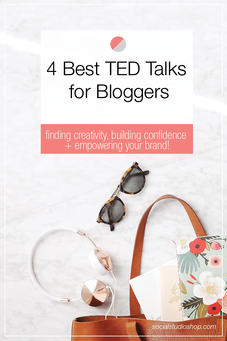 TEDTalks are a great way to get information from inspirational individuals on niched down topics. This week, we're sharing 4 of our favorite enriching chats that are great for bloggers of all types.