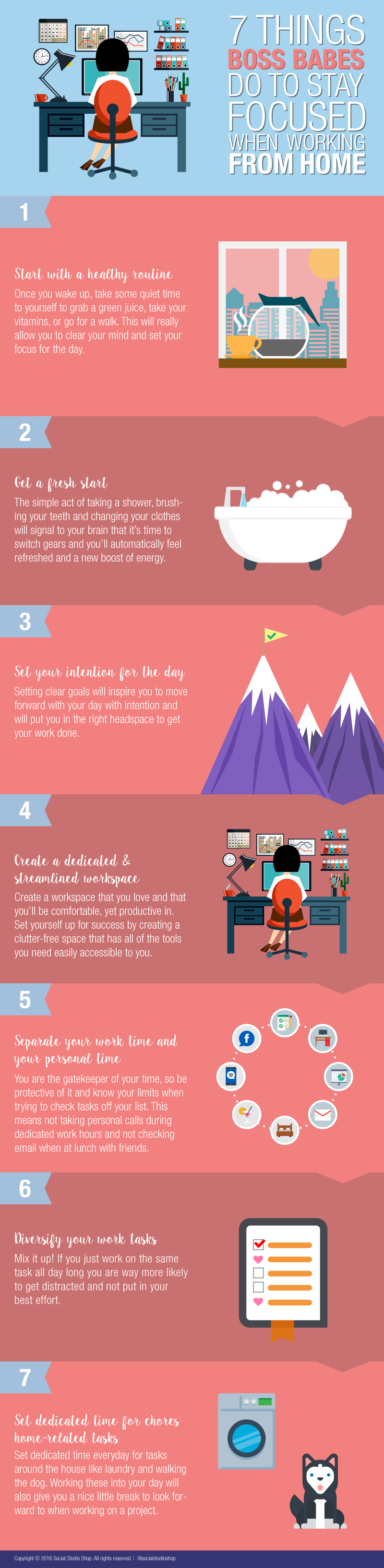 what to do if you work from home infographic
