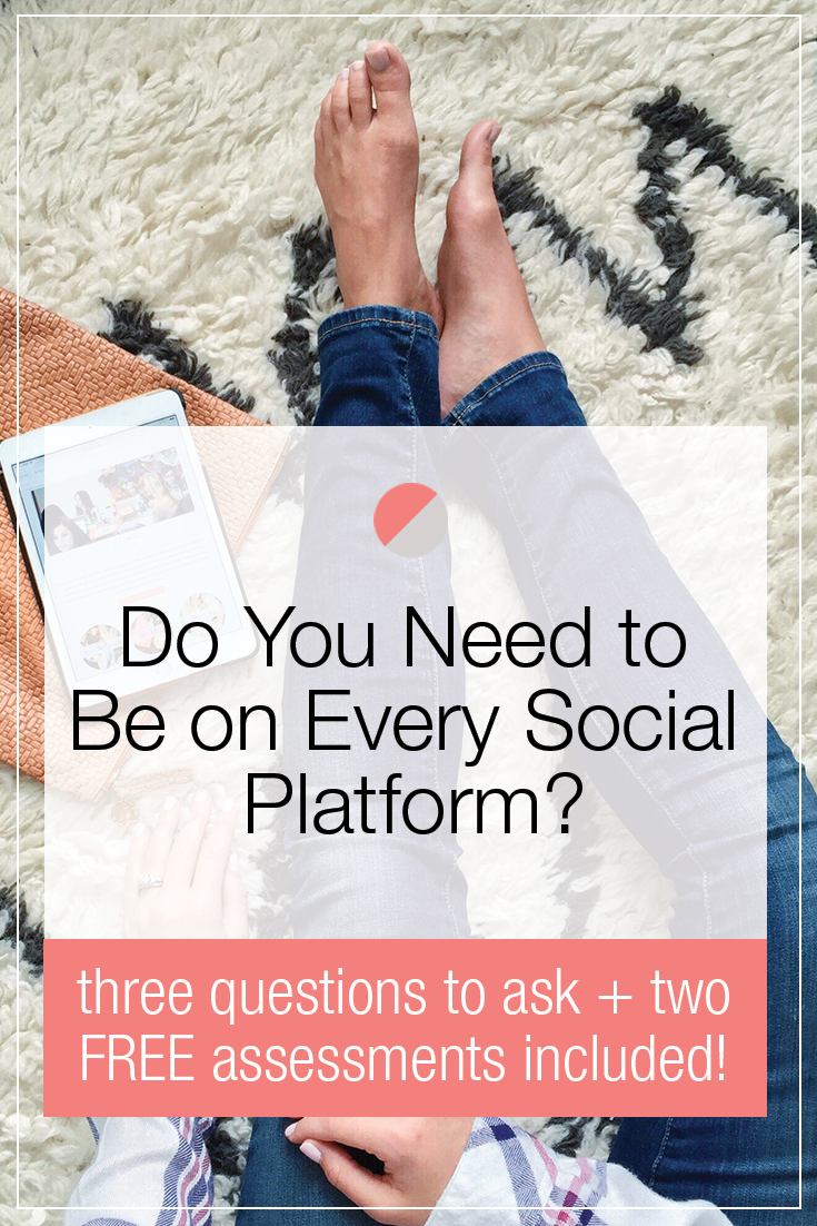Before you run to sign up for that new social platform all the kids are talking about, take a step back. Your time + resources are valuable and should be spent only on channels where your audience is hanging out and your content aligns. Click through to read which three questions you should ask yourself before joining another social media platform.