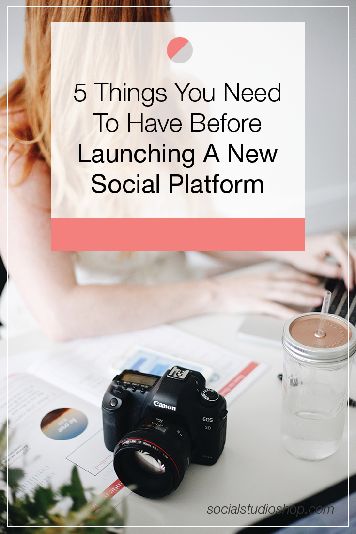 Thinking about launching a new social platform for your business or your brand? Before you start inviting your audience to follow along, make sure you follow these 5 steps first! Setting a strategy before you launch your new platform will help you ensure your audience is engaged + your resources are properly placed! Click-through to learn more helpful social media tips!