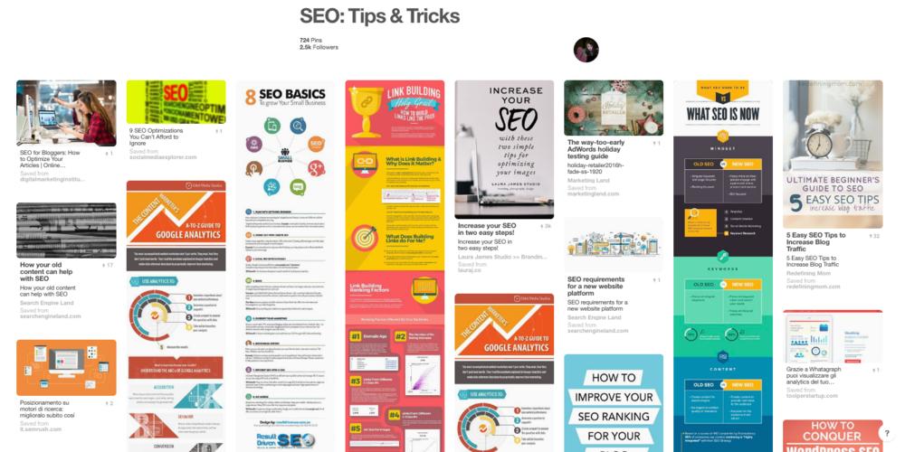 SEO Tips blogger board