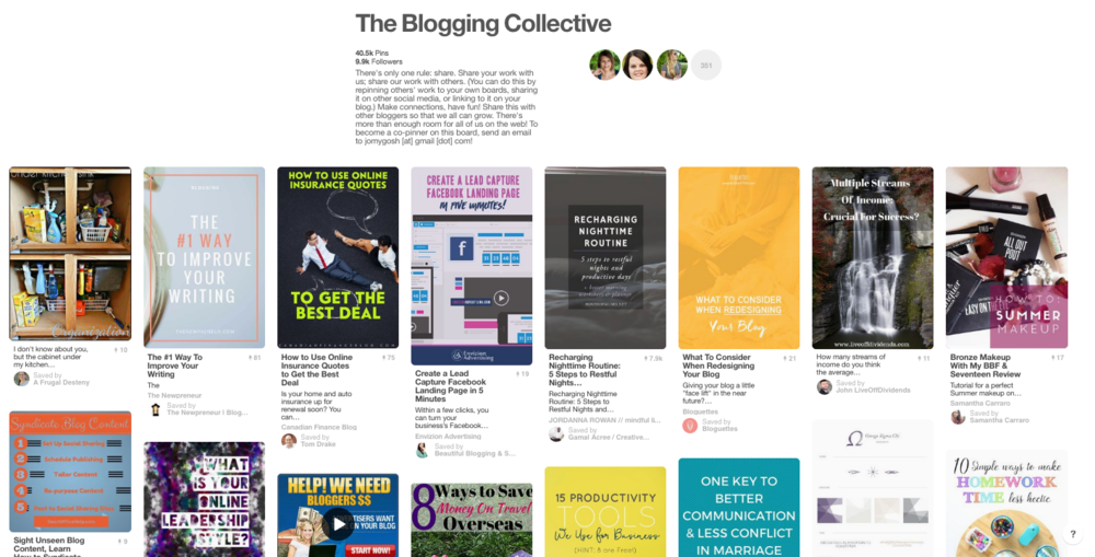 the blogging collective board