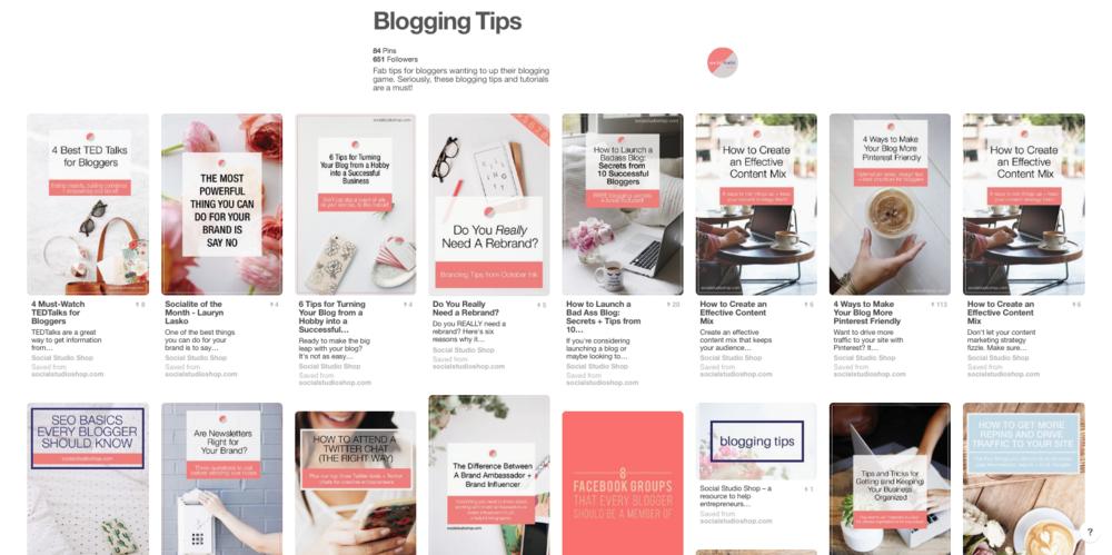 social studio shop blogging tips