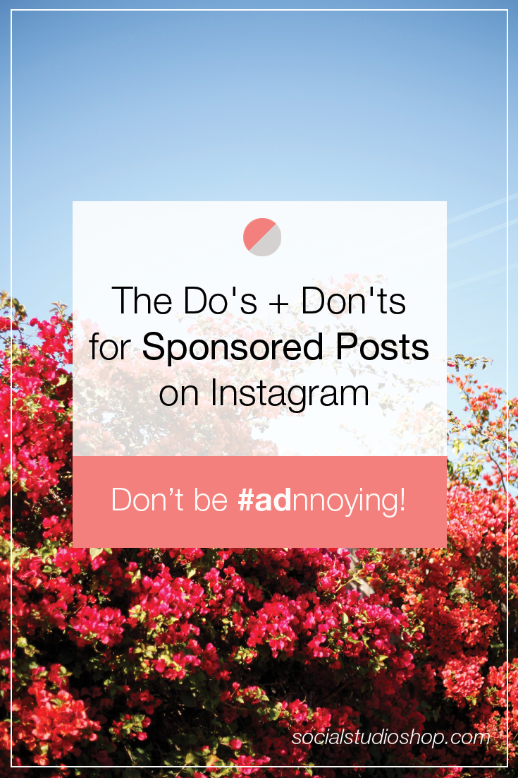 If you've been seeing sponsored instagram posts and considering joining up with a brand to become an ambassador, that's awesome! Just make sure you're following the golden rules of #ad sponsored posts so it doesn't affect your following or your engagement rate. Click through to read more about the do's and don'ts for sponsored posts on Instagram!
