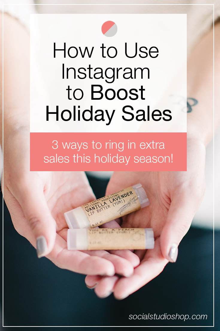 The holidays are almost here and if you're a small business owner this is likely your busiest season! Find out how you can utilize Instagram and Instagram stories to boost your holiday sales and help that bottom line!
