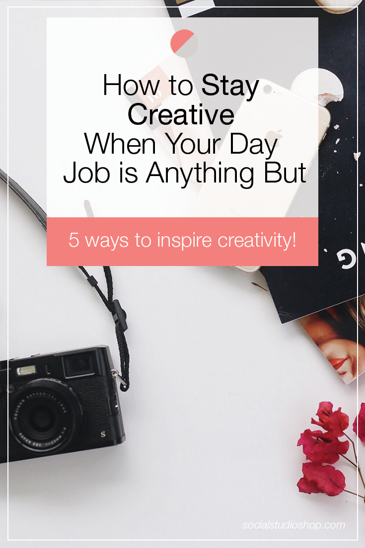 Is your day job zapping your energy and taking away from your creative energy? If your side hustle isn't getting the time it deserves lately, check out these 5 tips on how to stay inspired when working a big girl job to pay the bills.