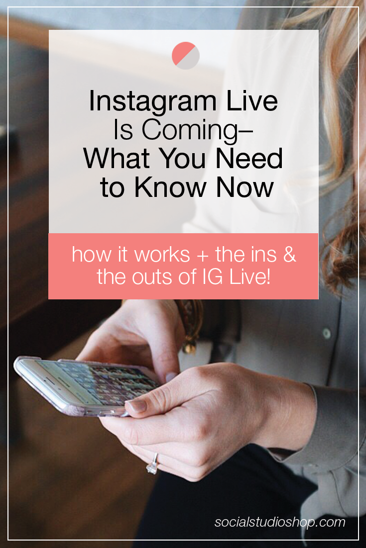 Instagram Live is on its way! Click through to read everything you need to know about the newest Instagram feature, how it works, + what you can do once it gets here!
