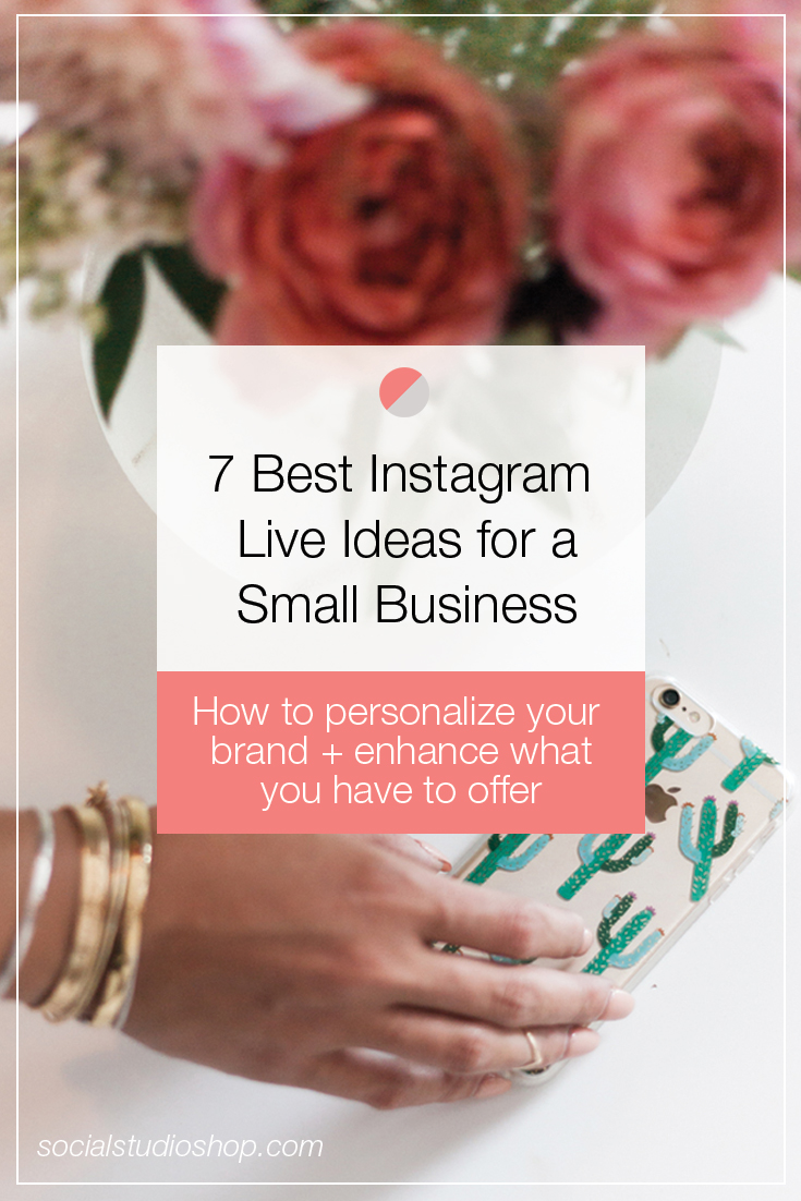 Instagram Live is the latest feature that small businesses can utilize to expand and reach their audience. Interested in learning more about this tool + how it can benefit your small biz? Click through to read some of our favorite ideas for how Instagram Live can work for you!