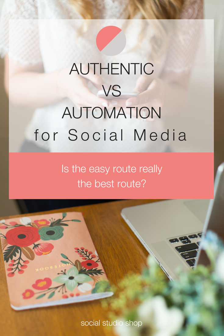 As a busy boss babe, you might be tempted to use an automation tool to schedule your social media. But is that the best choice 24/7? Click through to read our tips on when + how to utilize automation tools and when to let authenticity take over.