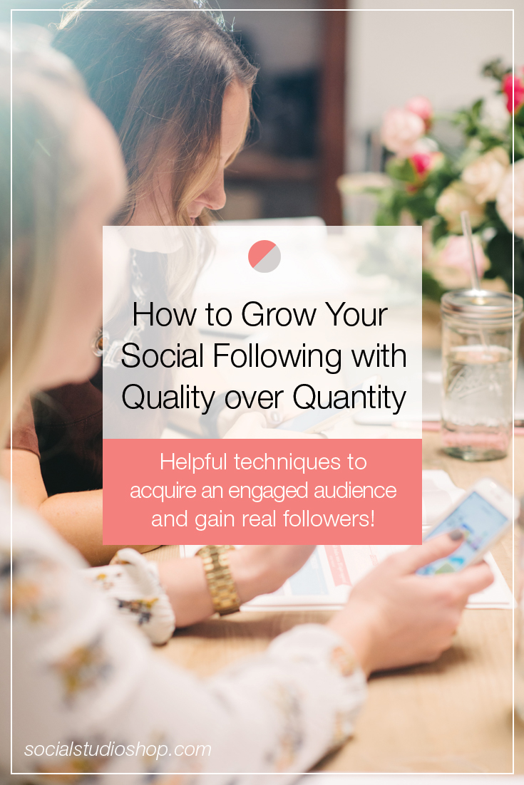 Don't fill your social media accounts with bogus, fluff followers. Find your tribe and grow an engaged following through quality rather than quantity. If you're looking for ways to grow your social media following with an audience who will stick around, click through to read our best practices!