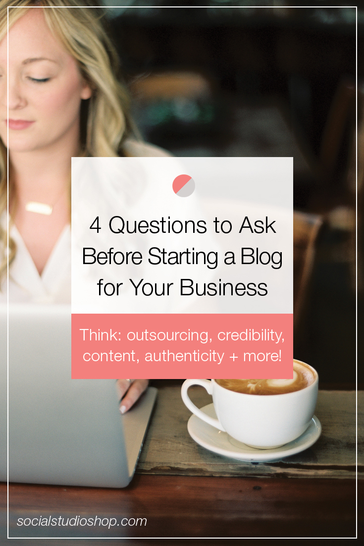 As a business owner, you're constantly looking for new and unique ways to market your brand. While blogging is an increasingly popular method, it's not for everyone. If you're curious whether starting a blog is right for your business, click through to see which four questions you should ask yourself before diving into the blogging world.