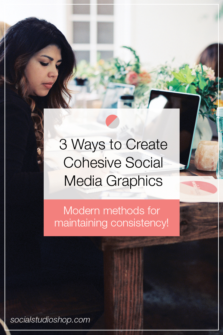 If your social media graphics are less than consistent, it might be time to implement a little strategy into your content creation. Click through to get our best tips, time savers, and hacks for creating beautiful social media graphics that are consistent across the board.