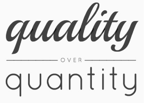 quality over quantity personal training