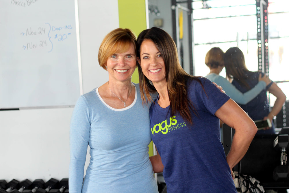 - The best thing about my journey at Vagus is that I have not had to do it alone! My trainer Leslie has been amazing at helping me (both physically and mentally) to work around my injury. - Deborah