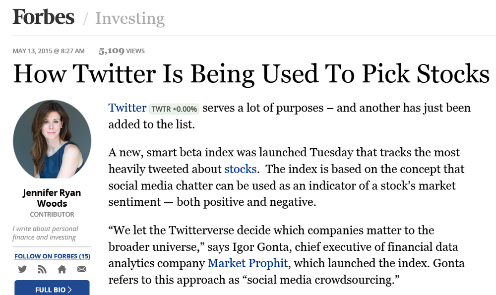 PRA Public Relations Forbes Twitter Market Prophit