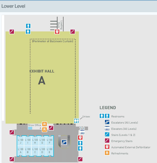 Convention Center Map - Lower Level