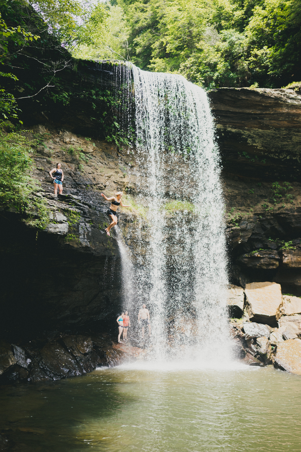 1.) Cliff Jumping at Greeter Falls
