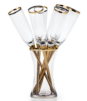 Salud Toasting Flutes- Set of 6