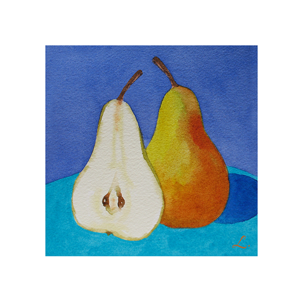 Yellow Pear on Blue and Turquoise122.png