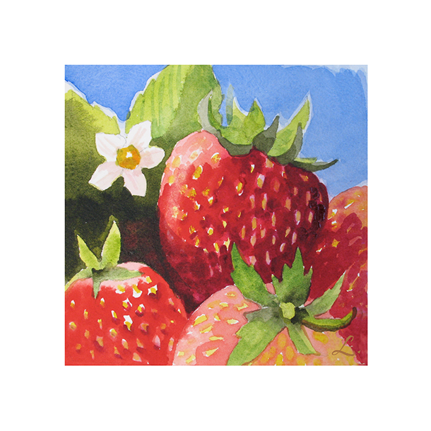 Strawberries with flower 122.png