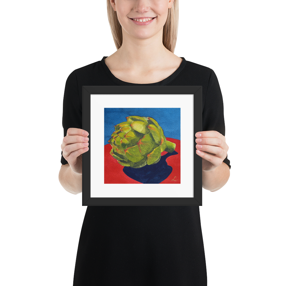 Artichoke-on-blue-and-red-fruit-frame-10x10_mockup_Person_Person_10x10.png