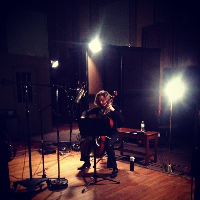 Recording the sinewy cello tones of Catherine Bent. @cr_mclaughlin