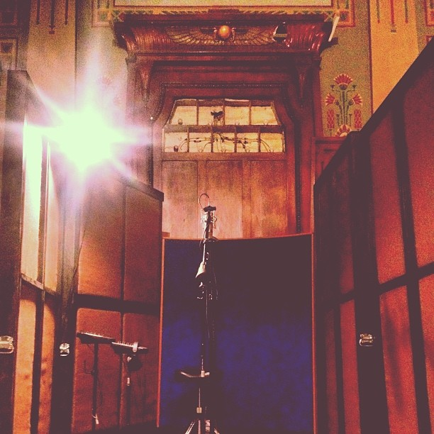 Recording vocals at the altar of @1867recording