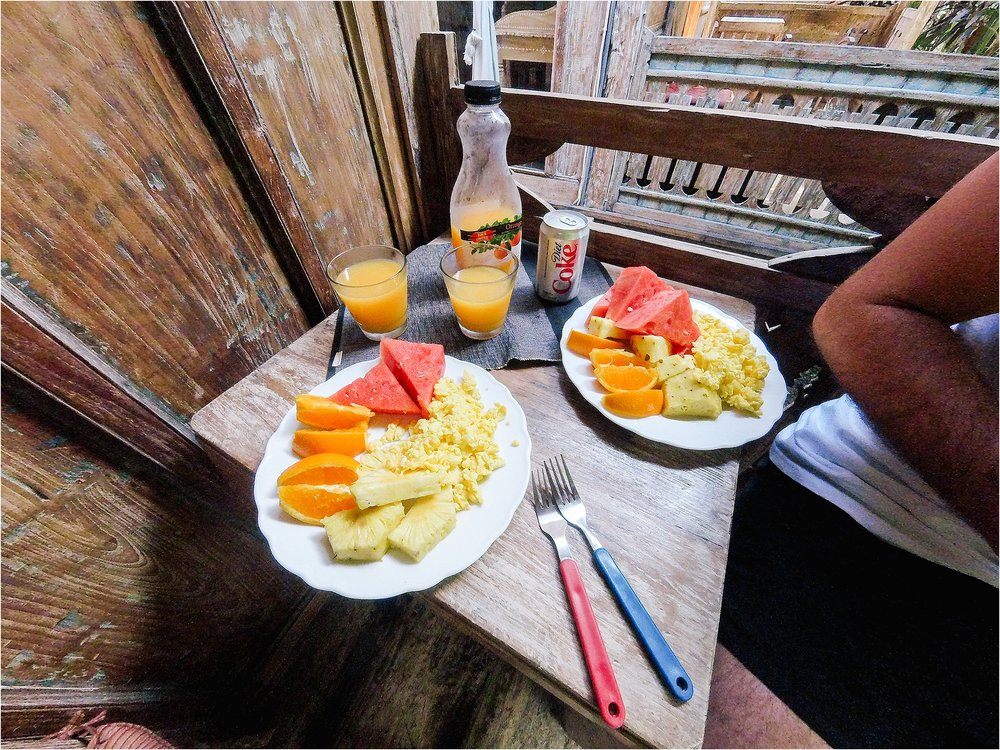 First breakfast in Bali from the local market. It was neat grocery shopping in a new country