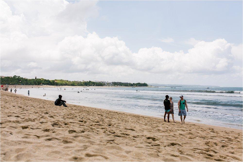 The beach in Kuta