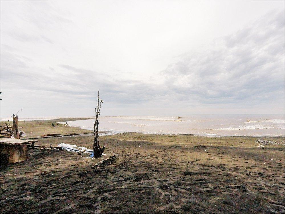 balian beach after a huge rain storm.