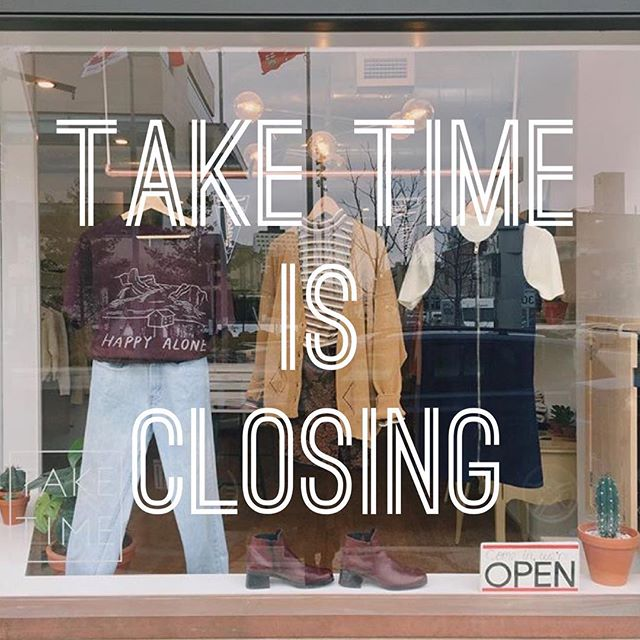 The rumours are true, Take Time is closing it's doors at the end of October. I am off to new adventures in New Zealand and Natalie is doing exciting work in Toronto.  GOOD NEWS is we are having a huge sale this month with new arrivals coming in throughout. We also have two shows coming up one with @placeforbands and another for @holysmokesmusicfest (!!!). So please come in and say goodbye and maybe find a final treasure. Will miss you big time (who knows maybe you'll see TT at a market or two this holiday season 😉).
