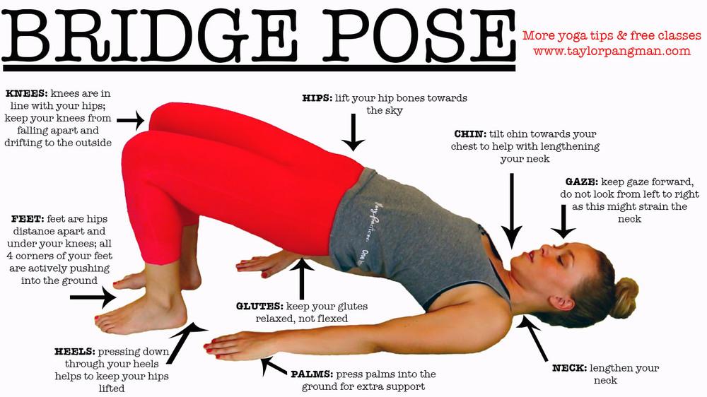 Pin now, practice Bridge Pose later!