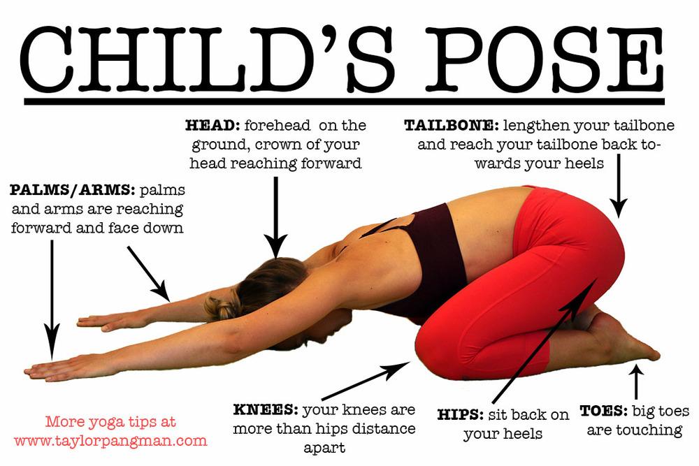 childs pose