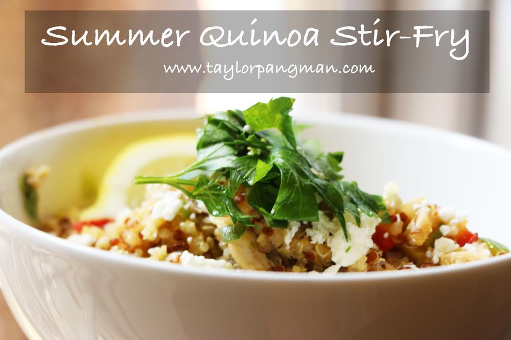 Pin now, cook later! Summer Quinoa Stir-Fry