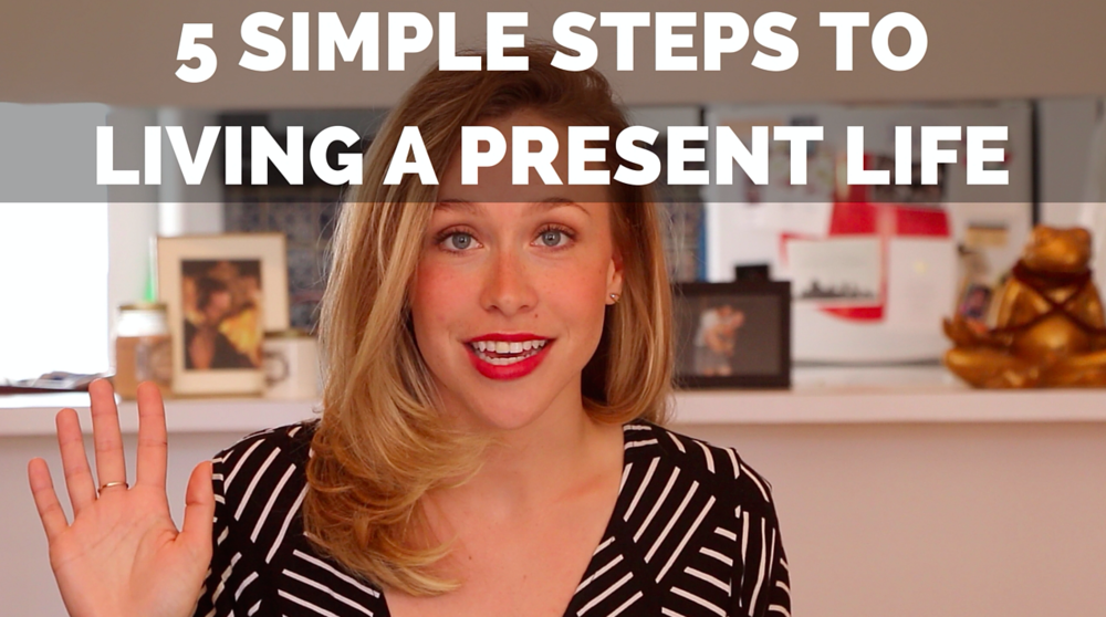 Pin now for 5 Simple Steps to Living a Present Life!