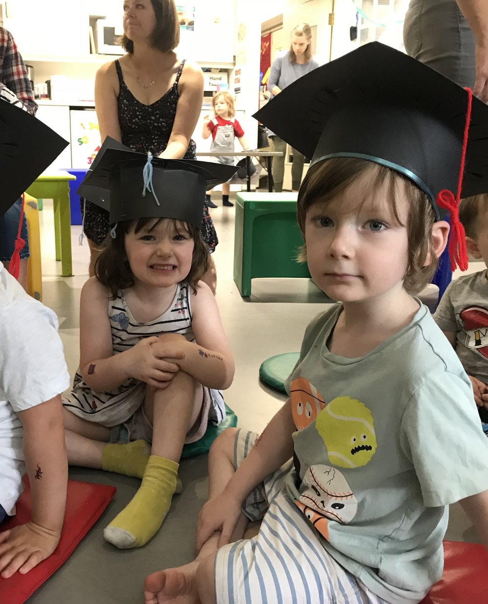 Graduates at our Four Year Old Off-to-School Party!