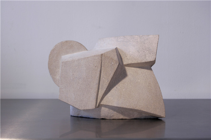 Alicia Ehni, KM 136 P.H., 2005, Carved Limestone, 8.5 x 11.7 x 8.6 in.jpg