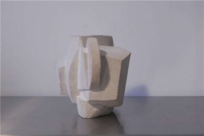 Alicia Ehni, KM 136 P.H., 2005, Carved Limestone, 8.5 x 11.7 x 8.6 in.(II).jpg