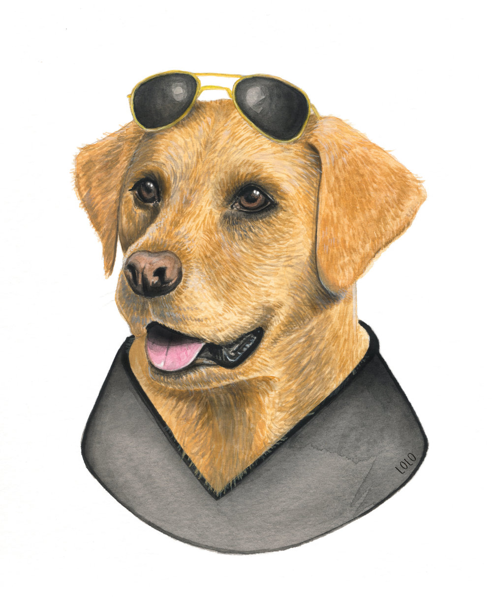 MR. PEANUTBUTTER - Watercolor, 9 x 7""