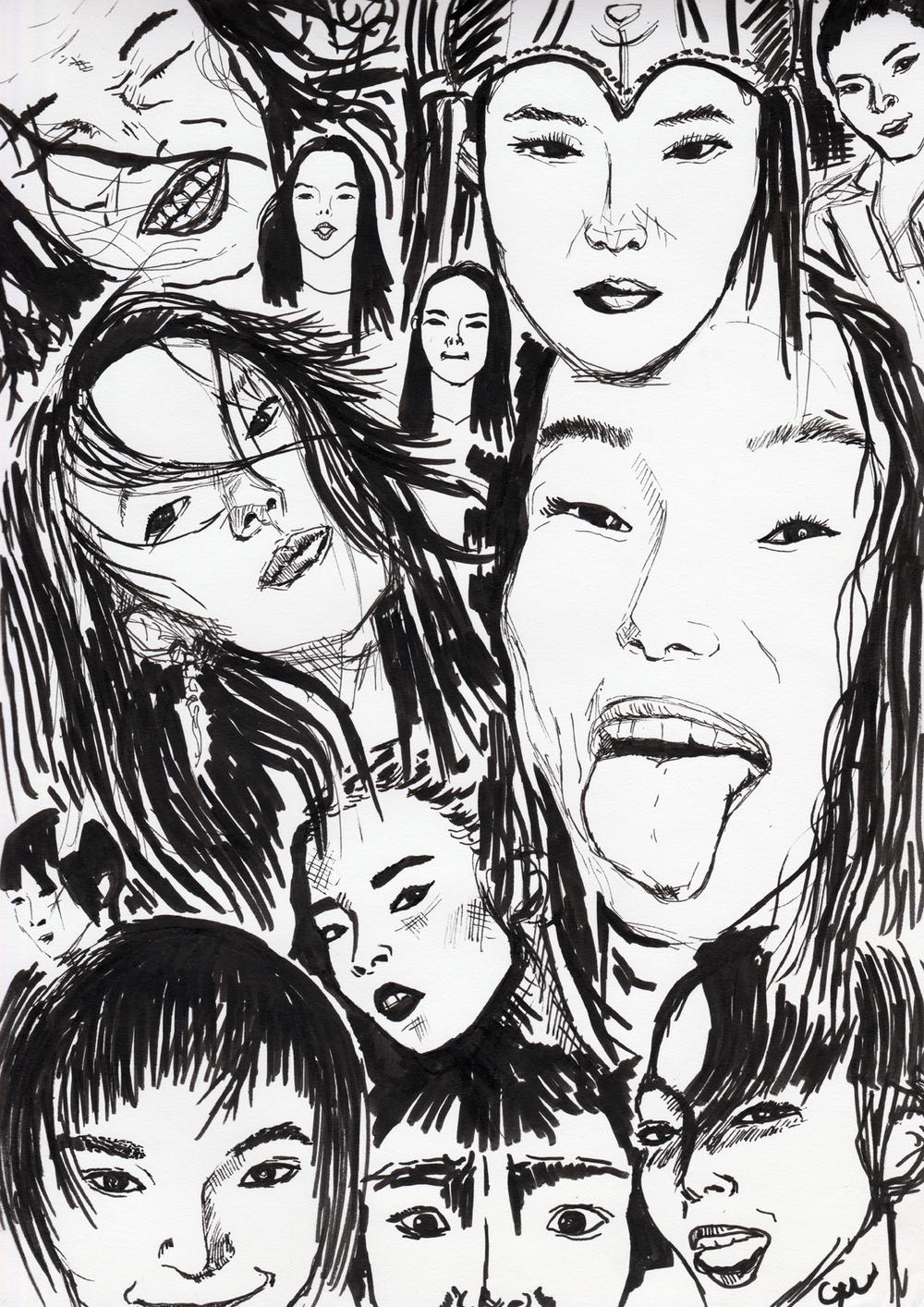 faces of xiao wen ju