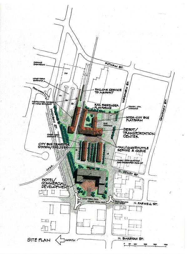 Eau Claire Depot Transportation Center & Transit Oriented Development Concept