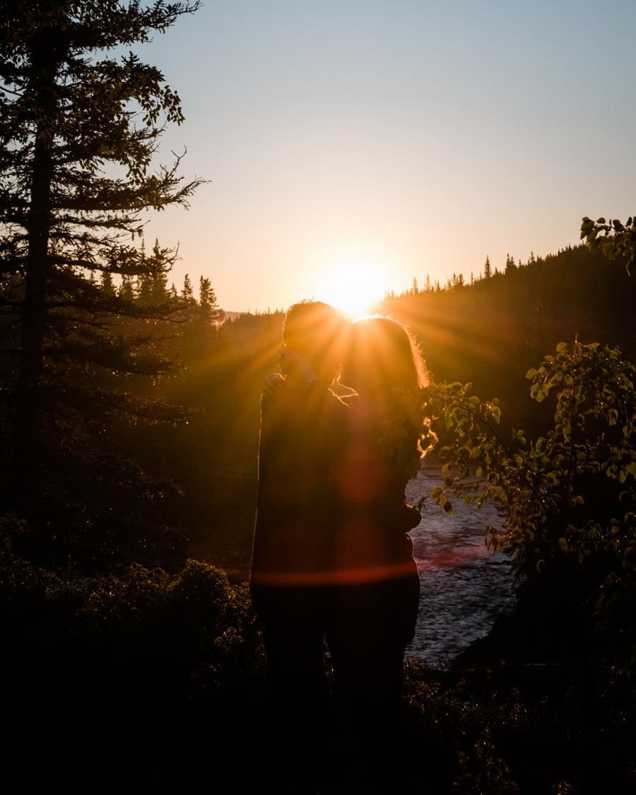 Blue Rock Provincial Park  Alberta Engagement Photographers  Nicole & Justin