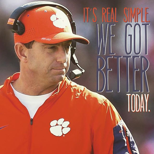 We got better yesterday, according to the coach.  I agree.