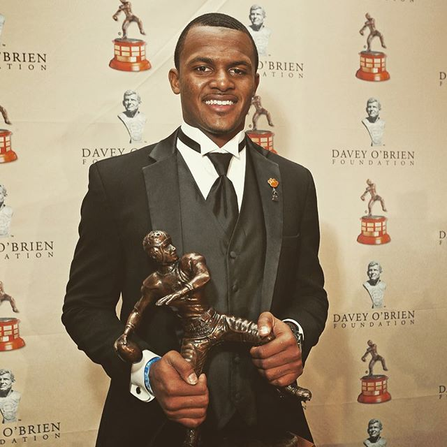 Deshaun Watson accepted the Davey O'Brien Trophy the other night.