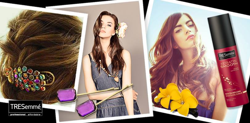 Hair accessories for summer - TRESemmé Keratine Smooth