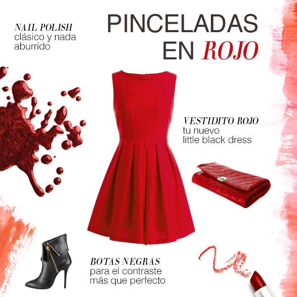 Ruby red classic fall-winter look